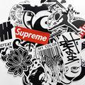 45 mixed graffiti supremo adesivo à prova d' água decoração da casa Do Doodle laptop motocicleta estojo de viagem acessórios Do Carro decalque do carro adesivo