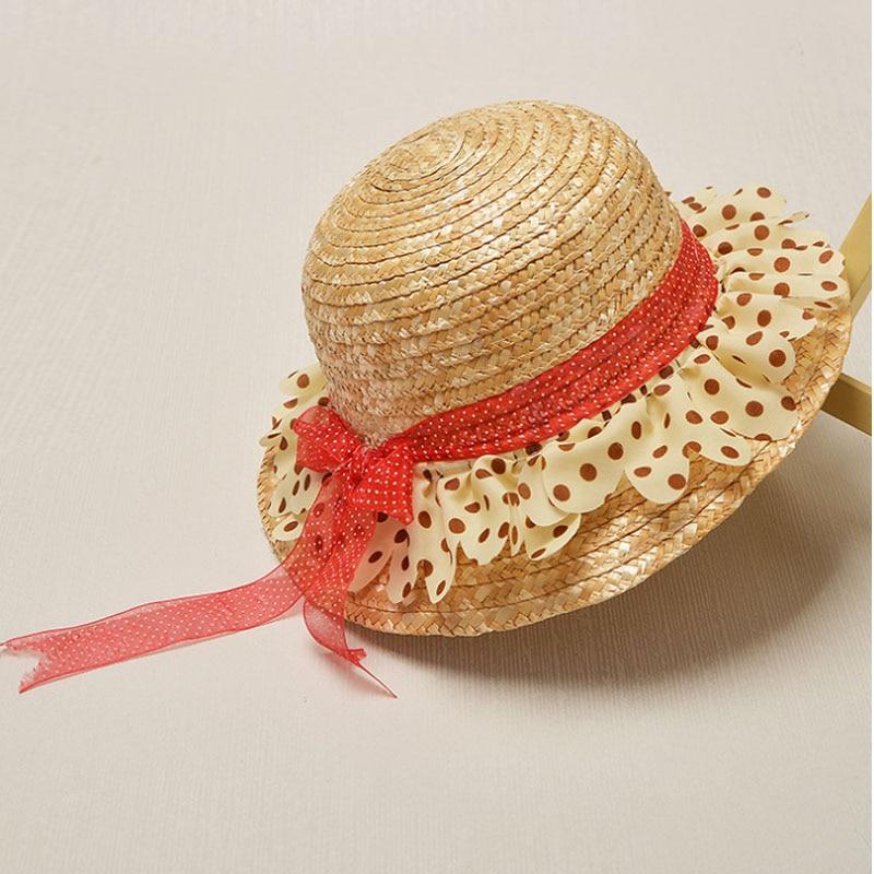 Fashion Summer Flower Design Straw Beach Cap Sun Hat For Children Temperament Flowers Straw Caps Sea Beach Church Sunshade Hats