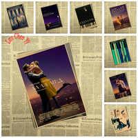 Múltiples premios película clásica La Land Kraft papel Poster café creativo papel pintado decoración de interiores