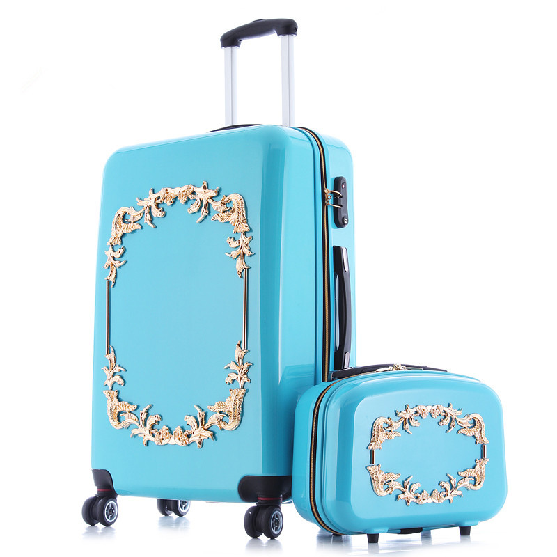 Earth tell luggage bag valiz suitcase bags women travel BOX,ABS+PC A set of trolley case,new style, traveling ,lock, mute,12 22 цена