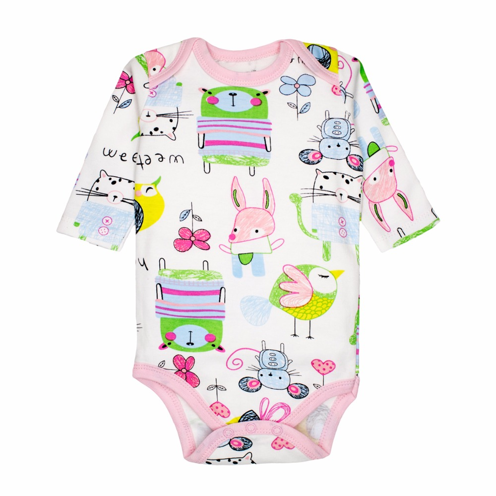 Newborn Baby Bodysuits Baby Girls Clothing Long Sleeved ...