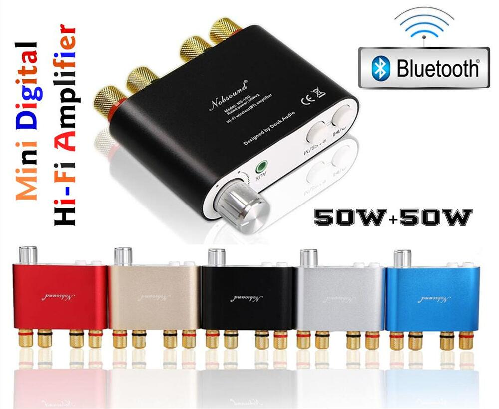 2017 Lastest Nobsound NS-10G TPA3116 Bluetooth 4.0 Mini Digital Amplifier Stereo HiFi Power Amp 50W*2 FREE SHIPPING new topping tp60 tp 60 ta2022 80w x 2 class t amp tripath mini hifi digital stereo power amplifier 2 analog rca inputs 220v 110v