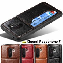 For Xiaomi Pocophone F1 case leather back cover card holder