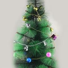 1pcs Decoracion Navidad Adornos Christmas Xmas Tree Hanging Chain Bell Chain XMAS Tree Decor Gift Ornaments 100cm 40g