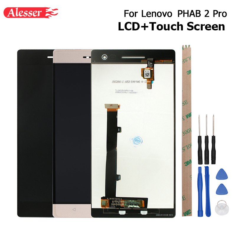 Alesser For Lenovo PHAB 2 Pro LCD Display Touch Screen Assembly Repair Parts 6.4 Inch Replacement For Lenovo PHAB2 Pro +Tools