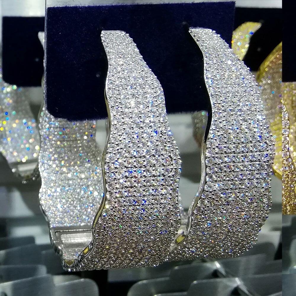 GODKI Luxury Width Geometry Cubic Zirconia Statement Hoop Earrings For Women Wedding DUBAI Big Earrings Jewelry Accessories 2018-in Hoop Earrings from Jewelry & Accessories