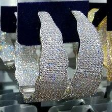 Godki Luxe Breedte Geometrie Zirconia Verklaring Oorringen Voor Vrouwen Bruiloft Dubai Grote Oorbellen Sieraden Accessoires 2018