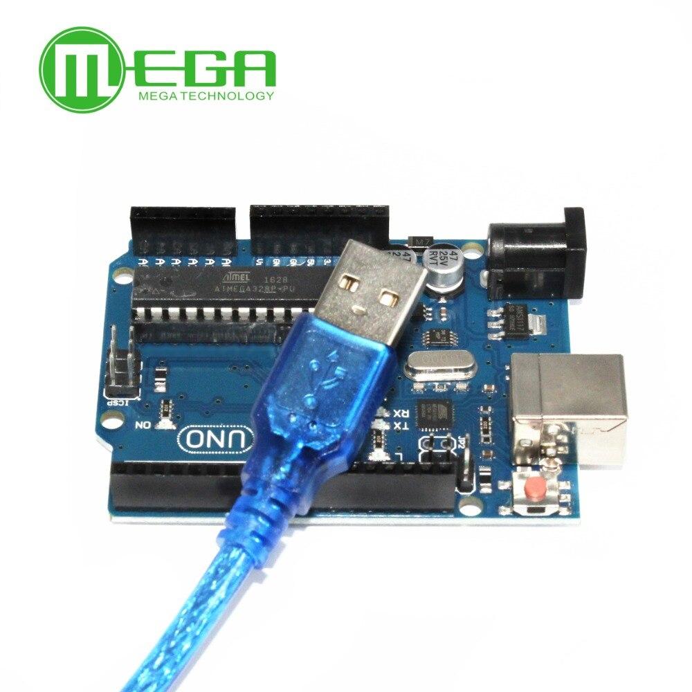 1lot=1 set =1pcs UNO R3 MEGA328P ATMEGA16U2 Compatible + 1pcs USB Cable