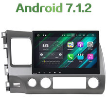 "2 din Android 7.1.2 Quad core 10.1"" 2GB RAM HD GPS Navigation Stereo Bluetooth Touch Screen Car Radio For Honda Civic 2006-2011"