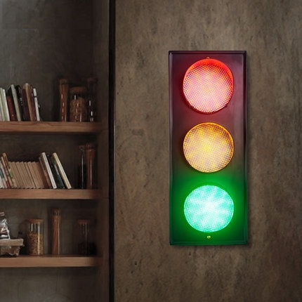Loft Style Creative Color LED Wall Lamp Fixtures For Indoor Lighting Vintage Traffic Light Wall Sconces Bedside wall Lamps
