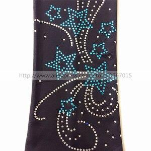Image 4 - Колготки для фигурного катания, женские штаны/брюки для катания на коньках, спортивный костюм, черные эластичные колготки для выступлений с узором в виде пентаграммы