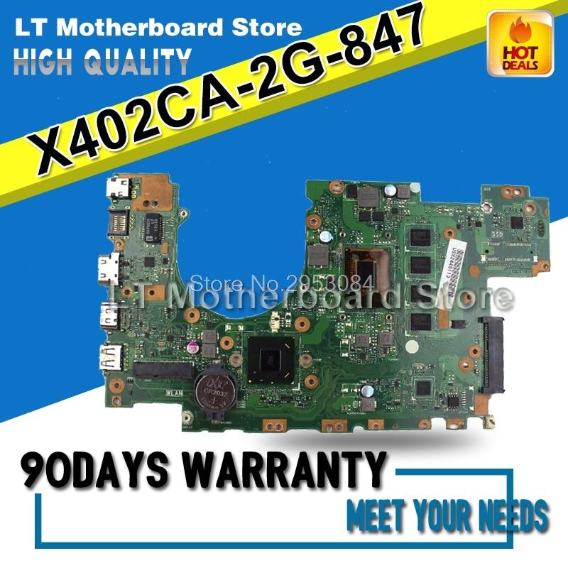 For ASUS X402C X402CA X502C X502CA REV2.1 847U 2G Memory On Board Laptop Motherboard System Board Main Board Card Logic Board