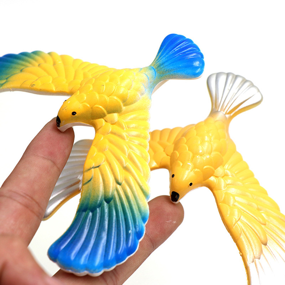 Funny Amazing Balancing Eagle With Pyramid Stand Magic Bird Desk Kids Toy Fun Learn HOOLER