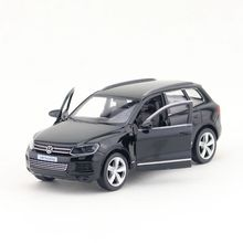 Livraison gratuite/RMZ City Toy/modèle moulé sous pression/échelle 1:36/Volkswagen Touareg Sport SUV/voiture rétractable/Collection éducative/cadeau/enfant