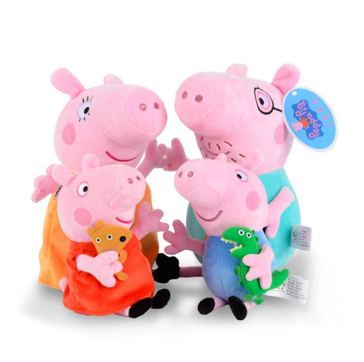 Genuine Peppa pig 19CM pink PIG Plush anime Toyshot sale Soft Stuffed cartoon Animal Doll For Children's Gift