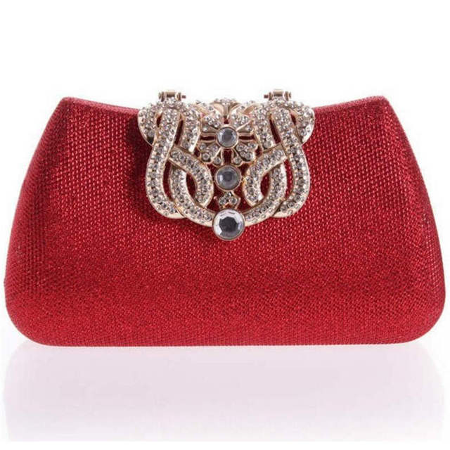 2016 gold clutch full luxury diamond crown evening bags silver evening clutch party purse glitter wedding bags 100% real picture