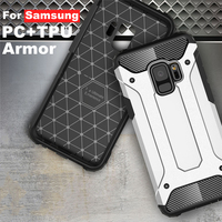CUGUU TPU+PC Armor For Samsung Galaxy S8 S9 Plus Case Luxury Anti-knock Case Back Cover For Samsung S6 Edge Plus S7 Edge A7 A5