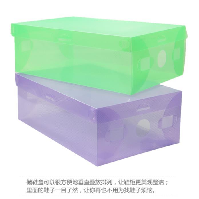 1pcs shoe packaging boxes transparent shoe boxes clear plastic pp storage box for shoes sizes. Black Bedroom Furniture Sets. Home Design Ideas