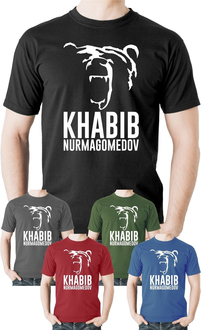 Khabib Nurmagomedov TShirt The Eagle Russian Sambo Wrestler Fighter Tee 100% cotton tee shirt Hip Hop Tee Shirt