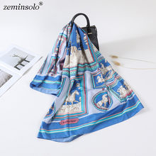 130*130cm Luxury Brand Women 100% Silk Scarf Bandana Printed Square Scarves Wraps Spring Fashion Stoles Shawls For