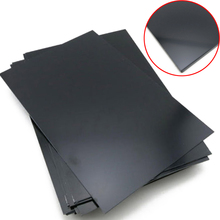 DWZ 1 Piece Durable Black ABS Styrene Plastic Flat Sheet Plate 0.5mm Thickness