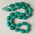 2015 new fashion hot selling good quality natural malachite stone drum beads pendants & necklace jewelry free shipping