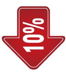 6 см ширина 10% 20% 30% скидка 50%, продвижение скидка этикетка наклейка, арт. PD08 - Цвет: 10 off