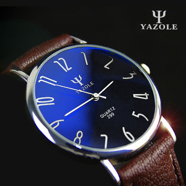 YAZOLE Brand Business Watches 2016 Fashion Genuine Leather Quartz Watch Men Casual Wristwatch Relogio Masculino Clock Men