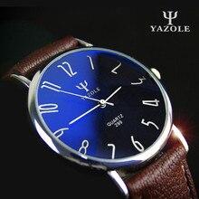 YAZOLE Brand Business Relojes 2016 Cuero Genuino de la Manera Hombres del Reloj de Cuarzo Reloj Casual Relogio masculino Reloj de Los Hombres