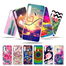 Bolomboy Painted Case For Samsung Galaxy A9 2018 Silicone Soft TPU Cases A6 A5 A8 Plus Cover Wildflowers