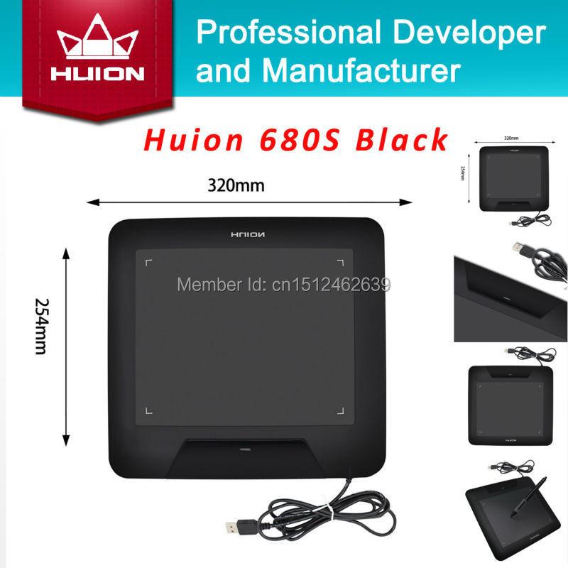 Sıcak Satış HUION Yeni 680 s Dijital Tablet Imza Kalem Tablet Profesyonel Grafik Tabletler Animasyon Pedleri El Yazısı Kurulları Siyah