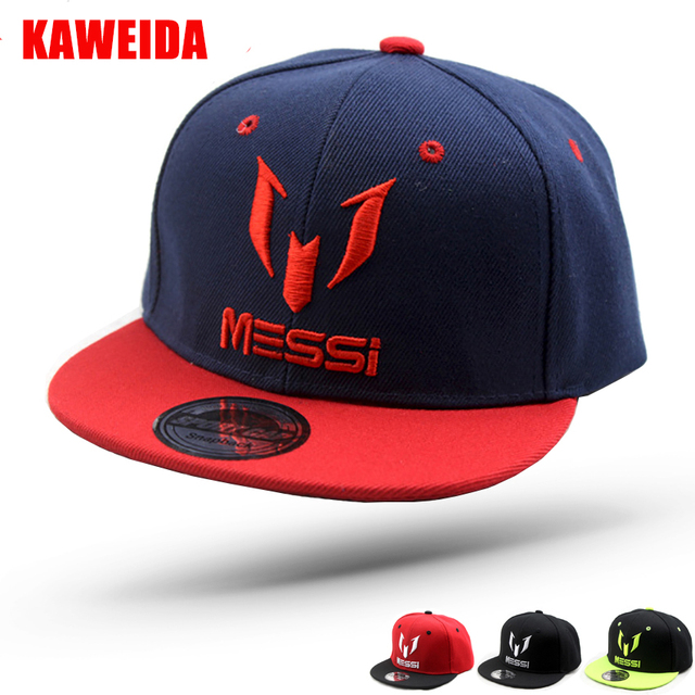 2018 Sports Outdoor Messi Baseball Cap Kids Black Cap Hip Hop Snapback Children  Boys Girls Hats 090e51f05e7