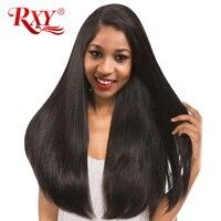RXY Brazilian Straight Hair Weave Bundles 1Pc Human Hair Bundles No Shedding No Tangle Non Remy
