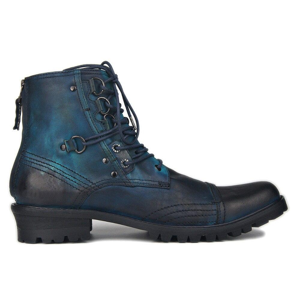 Męskie buty zamek błyskawiczny buty z prawdziwej skóry buty do kostki Chelsea buty projektant skórzane buty obuwie w Buty sztyblety od Buty na  Grupa 1
