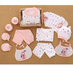 Image 4 - 18 חתיכות יילוד תינוק סט בנות בגדי ארבע עונות 100% כותנה תינוק חליפת נערי בגדי תלבושות מכנסיים תינוק בגדי כובע ליקוק