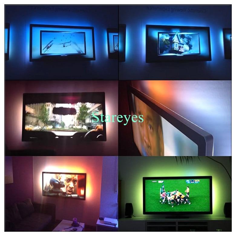 HTB1uwmYcpuWBuNjSszbq6AS7FXaC SMD 5050 RGB LED Strip DC 5V USB LED Light Strips Flexible IP20 IP65 Waterproof Tape 1M 2M 3M 4M 5M add Remote For TV Background
