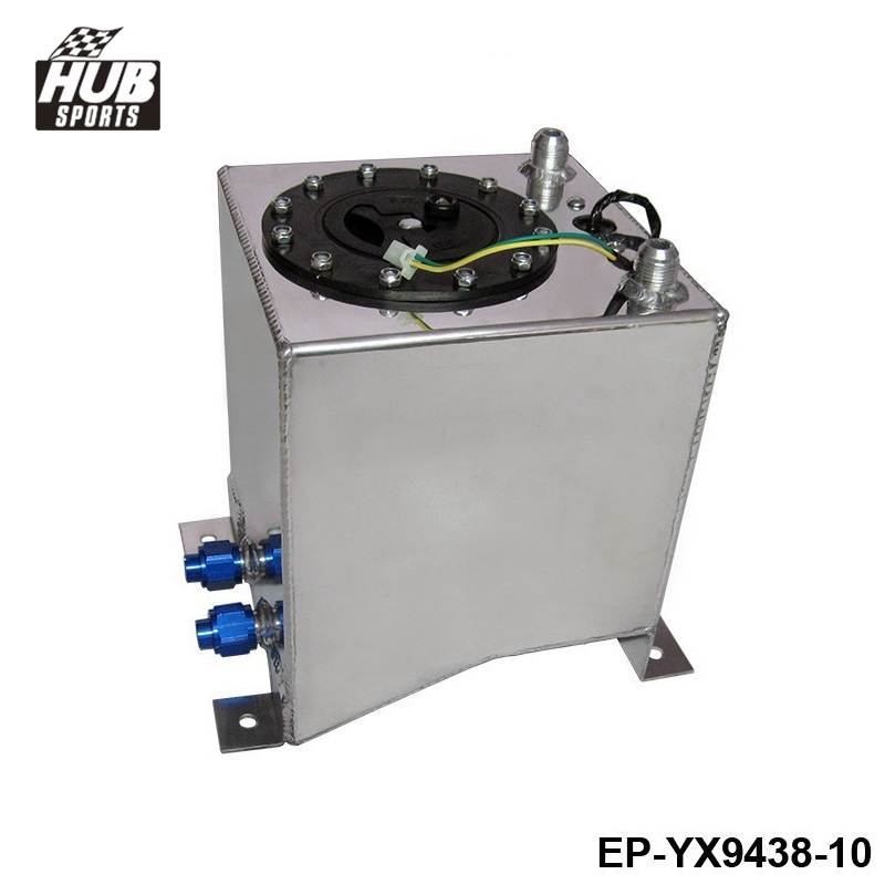 10L Aluminium Surge tank mirror polish Fuel cell foam inside, with sensor HU-YX9438-10 цена
