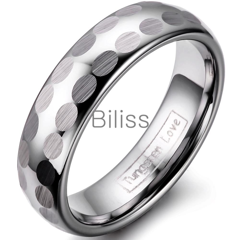 Bridal & Wedding Party Jewelry Energetic Titanium 925 Sterling Silver Inlay Flat 6mm Brushed Wedding Ring Band Size
