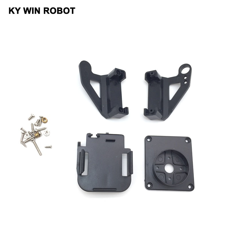 Electronic Components & Supplies Motivated Servo Bracket Pt Pan/tilt Camera Platform Anti-vibration Camera Mount For Aircraft Fpv Dedicated Nylon Ptz For 9g Sg90 An Enriches And Nutrient For The Liver And Kidney