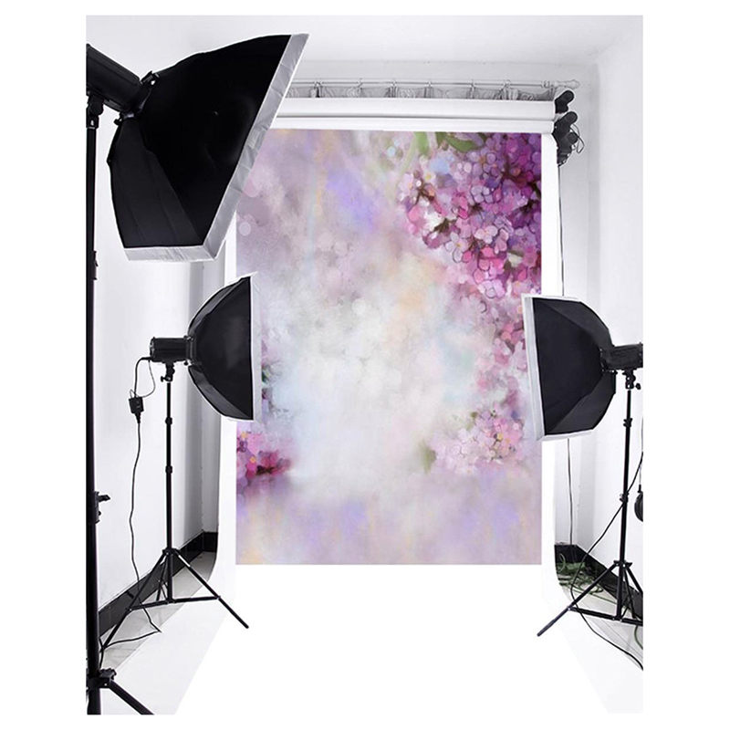 3x5ft Vinyl Thin Photography Backgrounds Dreamy Flowers Photo Backdrop Studio Props 150x220cm thin vinly photography backdrop wallpaper wooden floor drop custom photo prop backdrop backgrounds l741