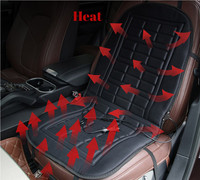 1PC Universal Black Car Interior Heated Seat Cushion Cover Auto 12V Heating Heater Warmer Pad Winter