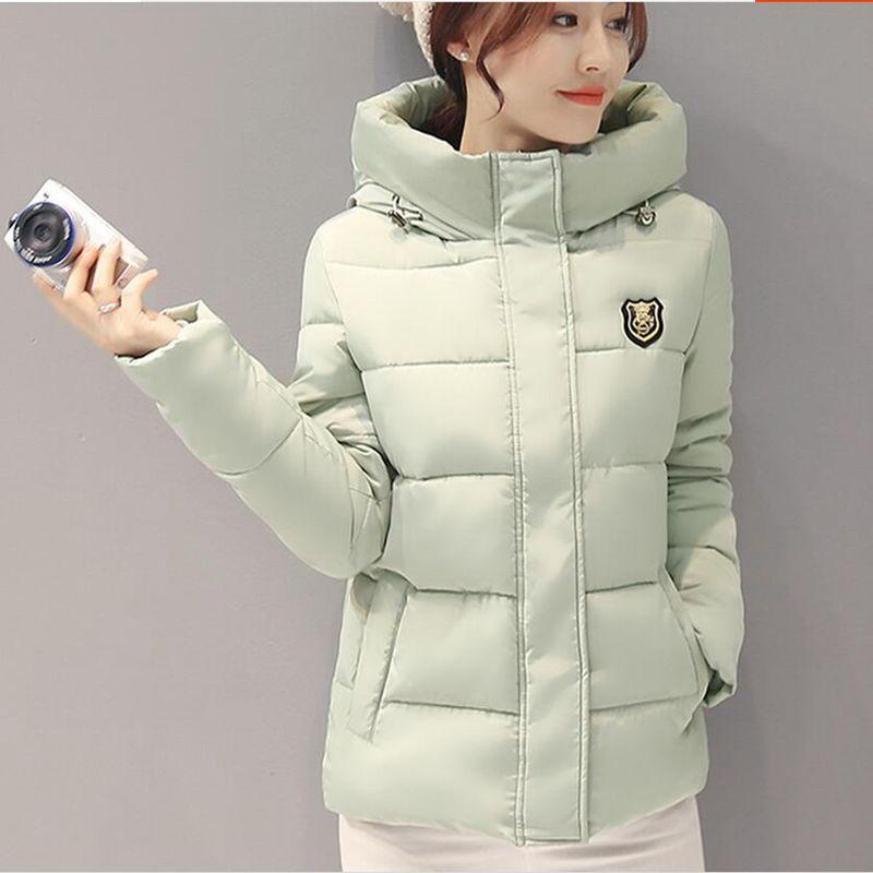 New Women Winter Jacket Hooded Thickening Super warm Short Coat Long sleeve Slim Big yards Cotton