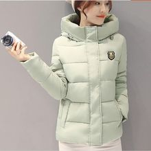 New Women Winter Jacket Hooded Thickening Super warm Short Coat Long sleeve Slim Big yards Cotton-padded clothes NZ357