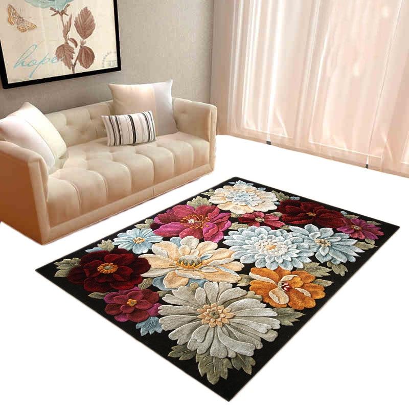 3d Floral Print Floor Mat Entrance Doormat Non Slip Living
