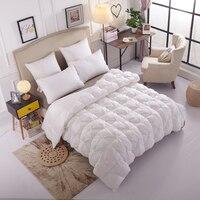 Пуховые одеяла толстые теплые роскошные Стёганое одеяло Постельные принадлежности наполнитель полный размер королева для детей и взрослы