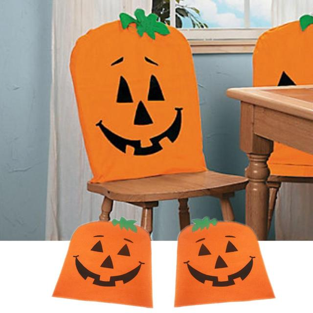 Charmant 1pc Halloween Pumpkin Chair Cover Cloth Pumpkin Chair Seater Back Cover For  Home Coffee Store Halloween