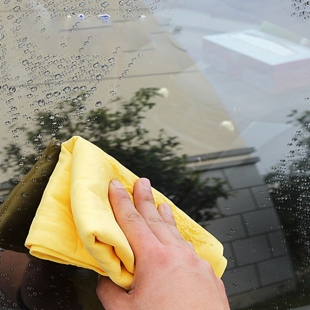 Random Color NewMagical Auto Care Suede PVA Deerskin Chamois Towels Car Cleaning Cham Towel Wash Cloth Sponge Super Absorbent