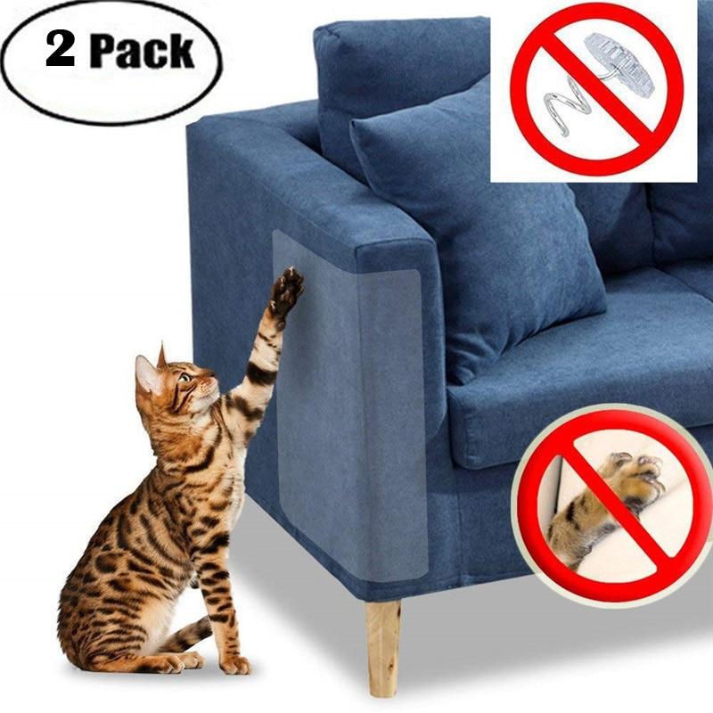 2pcs Pet Cat Scratch Guard Mat Cat Scratching Post Furniture Sofa Protector Safe