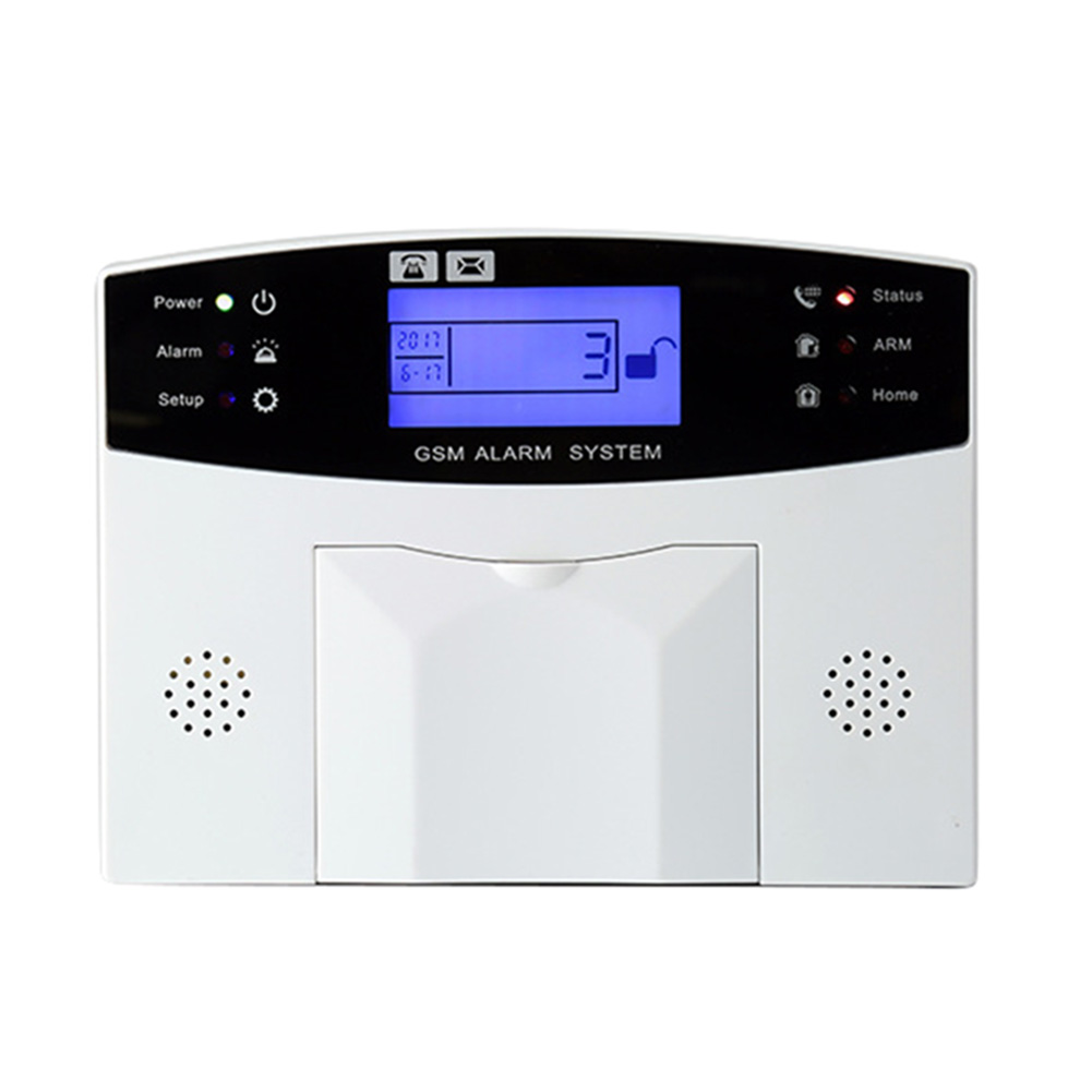 Wireless Door Sensor Home Security <font><b>GSM</b></font> <font><b>Alarm</b></font> <font><b>System</b></font> LCD Display Remote Control Siren Kit LCC77