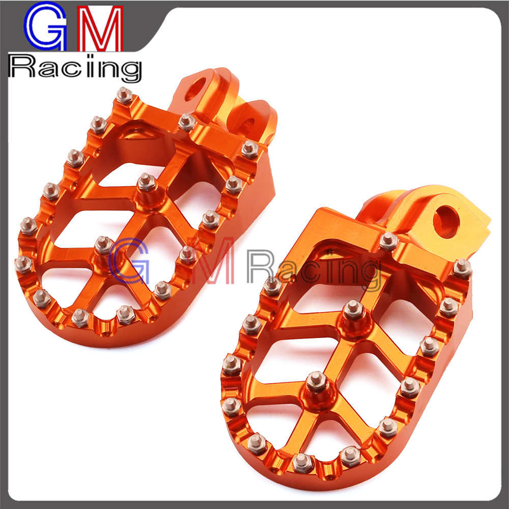 Motorcycle Footpegs Foot pegs Rest Pedals For Husqvarna TC FC TE FE FS ENDURO SUPER MOTO 65 85 125 150 250 350 450 501 701-in Foot Rests from Automobiles & Motorcycles    1